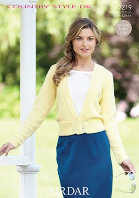 Sirdar Country Style DK - 7219 Cardigan Knitting Pattern